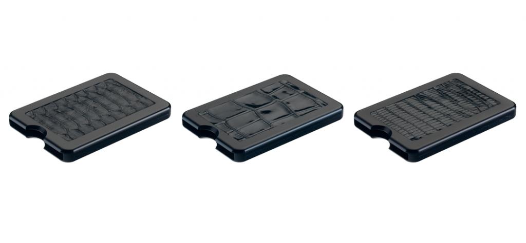 three black hunck cardholders
